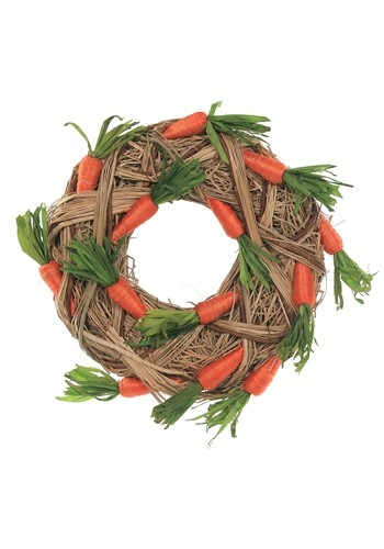 Natural Easter Carrot Wreath