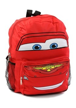 "Pixar CARS 14"" Lightning McQueen Big Face Backpack"
