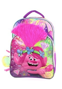 Trolls Poppy 3D Kids Backpack with Pom Pom