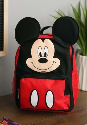"""Mickey Mouse 10"""" Big Face Kids Backpack-update"""