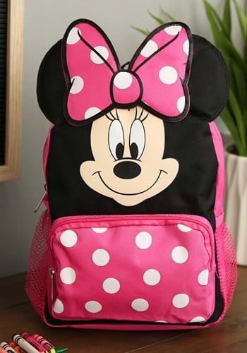 Minnie Mouse 10 Inch Big Face Mini Backpack Main UPD