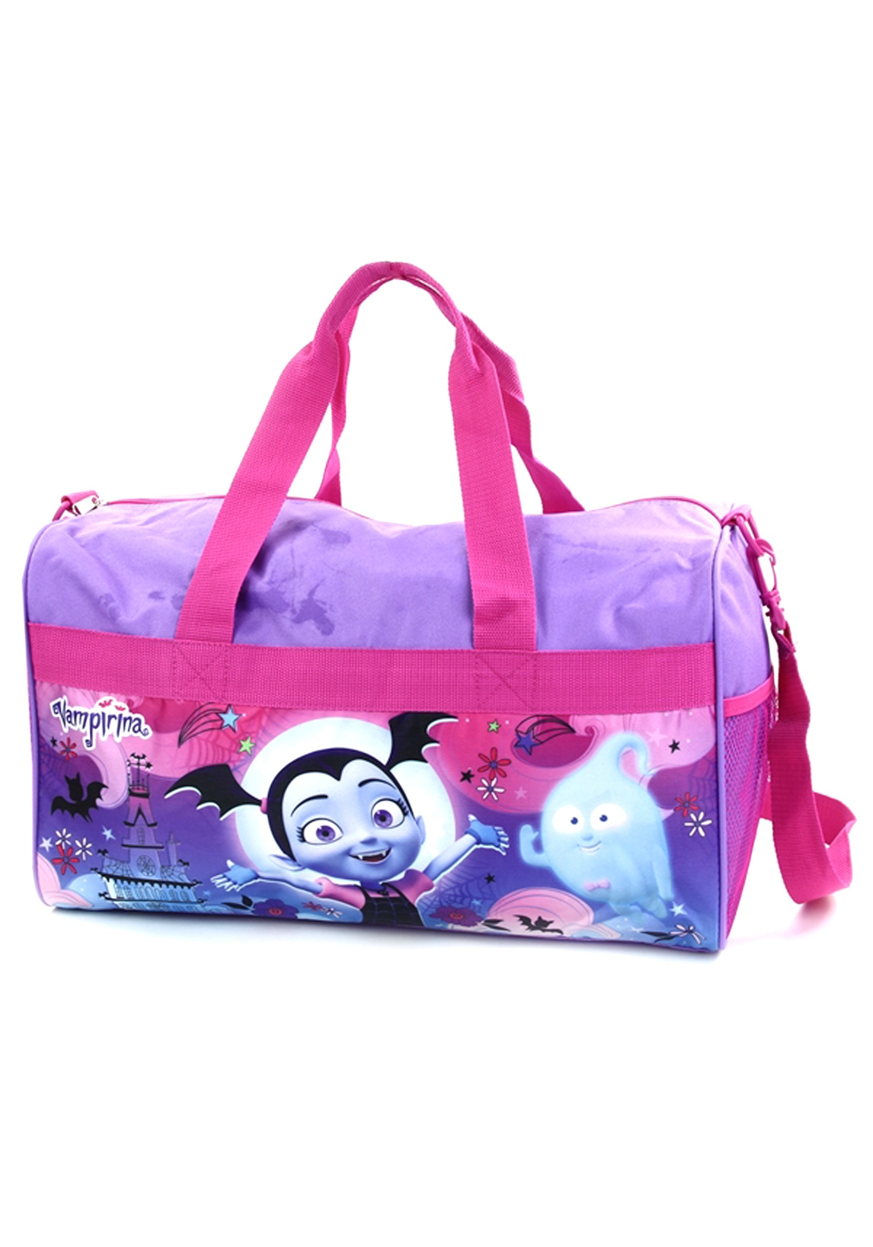 "Girls Vampirina Duffel Bag 18/"" Purple Pink"