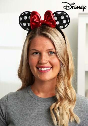 Minnie Mouse Polka Dot Sequined Ears Costume Headband