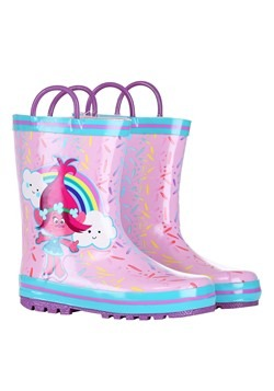 Trolls Poppy Pink w/ Blue Rain Boot