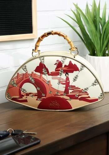 Loungefly Mulan Bamboo Fan Handbag-1