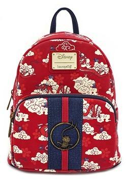 Loungefly Mushu Cloud Print Mini Backpack