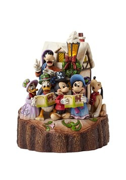 Carved Disney Caroling Figurine from Heart