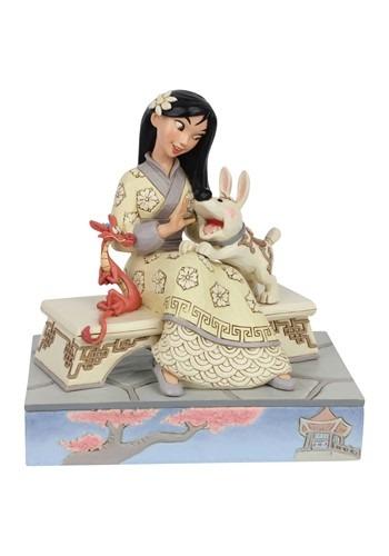 White Woodland Mulan Statue