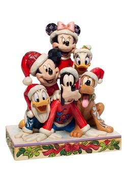 Christmas Mickey & Friends Statue