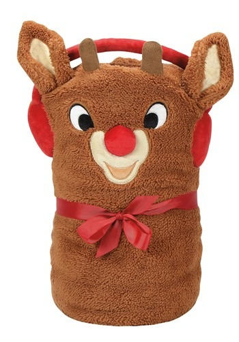 Rudolph Snow Throw Blanket