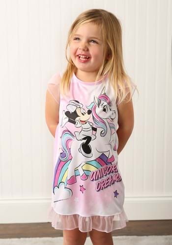 Girls Minnie Mouse Unicorn Dorm Nightgown Upd