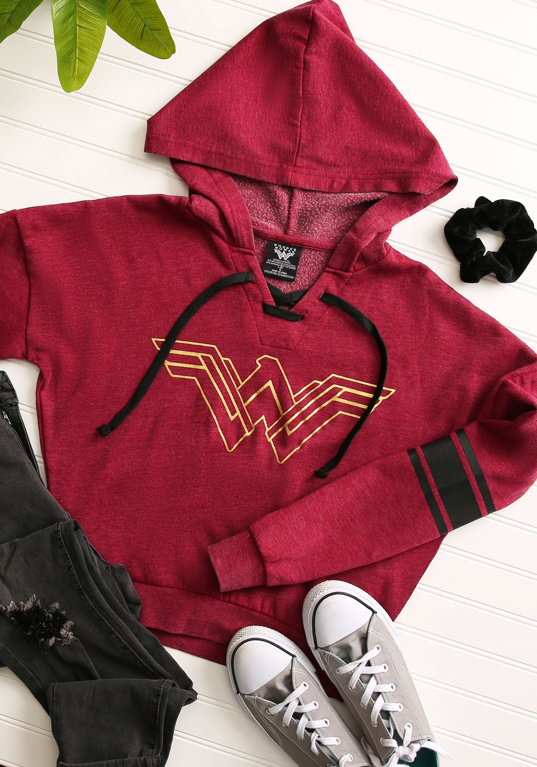 WONDER WOMAN LOGO Licensed Sweatshirt Hoodie