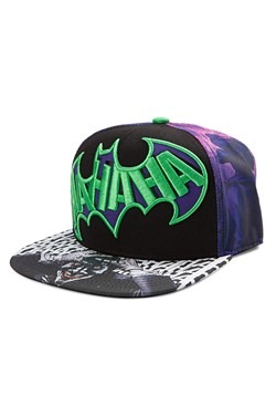 Joker Sublimated Print Snapback Hat
