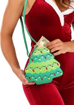 Green Christmas Tree Crossbody Purse