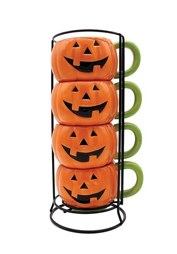 Jack-o-Lantern Stacking Mug Set