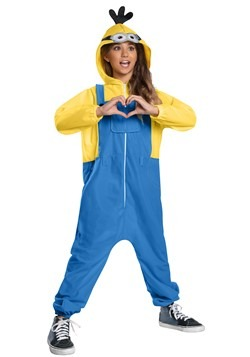 Minion Oversized Hooded Child Jumpsuit