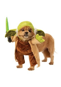 Star Wars Walking Yoda with Lightsaber Pet Costume