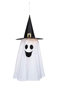 Fabric Light Up Witch Hat Ghost Decoration