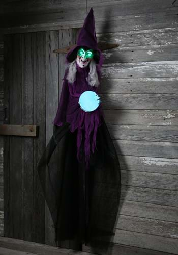 Plastic Light Up Animated Crystal Ball Witch Décor Update