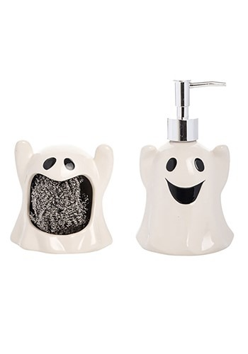 Ghost Sponge Holder/Soap Dispenser Set
