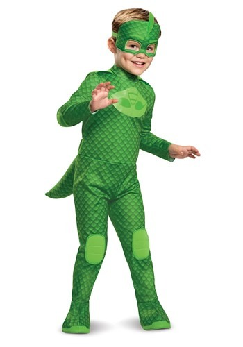 PJ Masks Kids Gekko Deluxe Light Up Costume Main Upd