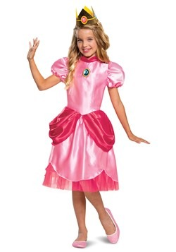 Girl's Super Mario Classic Princess Peach Costume