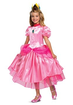 Super Mario Deluxe Princess Peach Girls Costume