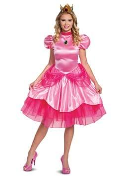 Deluxe Womens Super Mario Princess Peach Costume