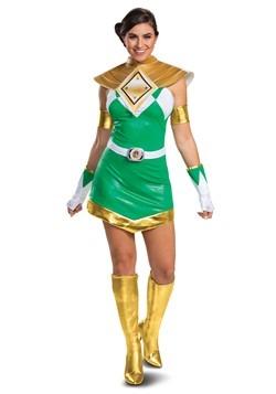 Women's Power Rangers Deluxe Green Ranger Costume 2