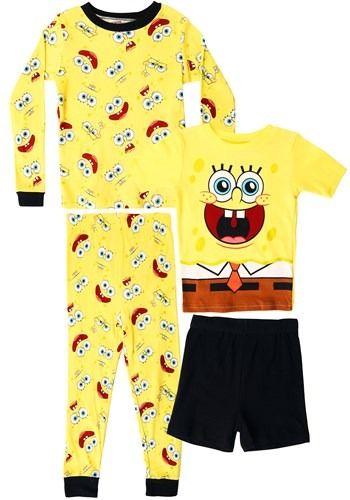 Boys Spongebob four Piece Sleep Set Update