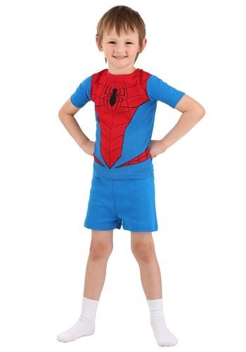 Boys Spiderman Suit four Piece Sleep Set