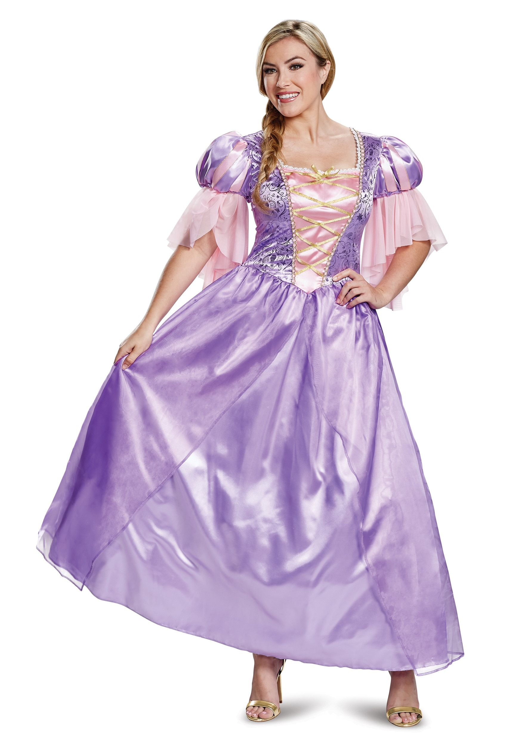 Tangled Deluxe Rapunzel Costume For Adults