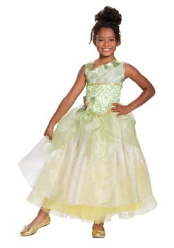 The Princess & The Frog Girls Deluxe Tiana Costume