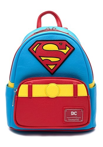 Loungefly Vintage Superman Cosplay Mini Backpack