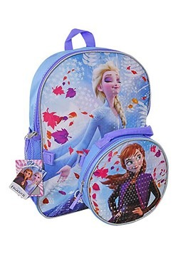 "Frozen 2 16"" Backpack with Shaped Lunch Bag"