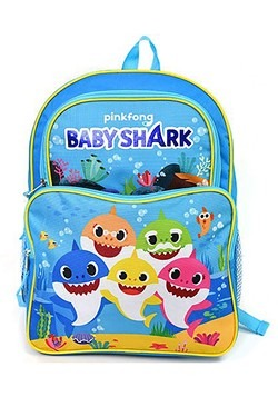 Baby Shark 16 Inch 2 Pocket Backpack