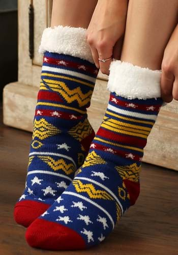 Wonder Woman Cozy Slipper Socks Update