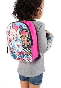"Jojo Siwa 10"" Plush Kids Backpack Alt 1"