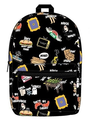 Friends Icon Print Sublimated Backpack Update
