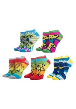 Grateful Dead Tie Dye 5 Pack Ankle Socks