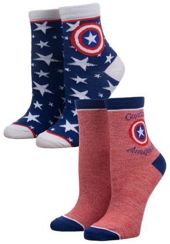 Captain America 2 Pack Anklet Socks