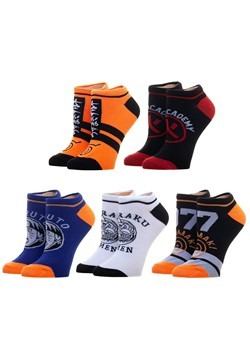 Naruto 5 Pack Womens Ankle Sock Set