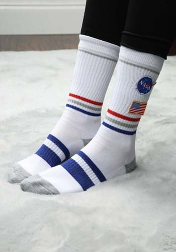 NASA Patch Adult Crew Socks
