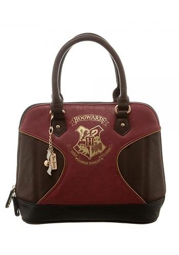 Harry Potter Gold Hogwarts Crest Print Jrs. Dome Handbag