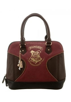 Harry Potter Gold Hogwarts Crest Print Jrs. Dome Handbag