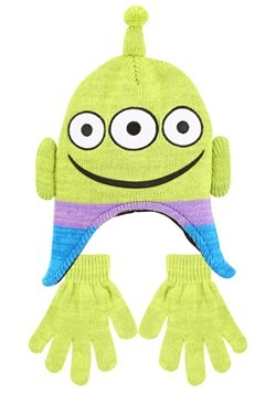 Toy Story Alien Peruvian Hat & Glove Set