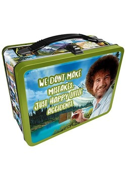 Bob Ross Happy Accidents Metal Lunchbox
