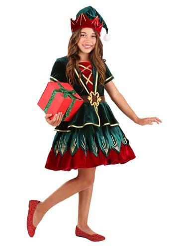 Deluxe Holiday Elf Costume for Girls