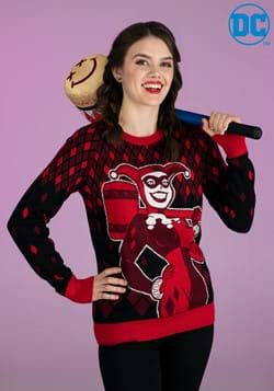 Adult Harley Quinn Hammer Time Ugly Christmas Sweater-2