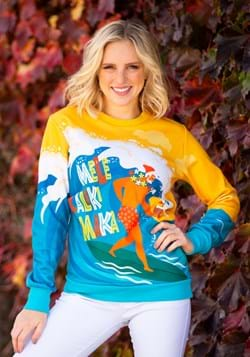 Mele Kalikimaka Surfing Santa Ugly Christmas Sweater main UP